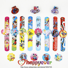 12PCS Assorted Cartoon Slap Bracelets Kids Event Party Favors Supplies Boy Girl Birthday Party Toys Treat Bag Reward Goodie