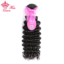 Queen Hair Products Brazilian Deep Wave Hair Bundles 1 Piece 100% Human Remy Hair Weave 10''~30'' Natural Color