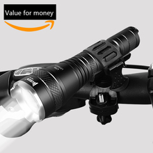 WUBEN Zoomable LED Flashlight 1200 LM Real Test Super Bright USB Rechargeable Waterproof IPX8 Torch + Bicycle Mount + Battery(China)