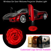 2x Red Rose Logo Wireless Car Door Step Courtesy Welcome Laser Projector Puddle Ghost Shadow LED Lights #A0503