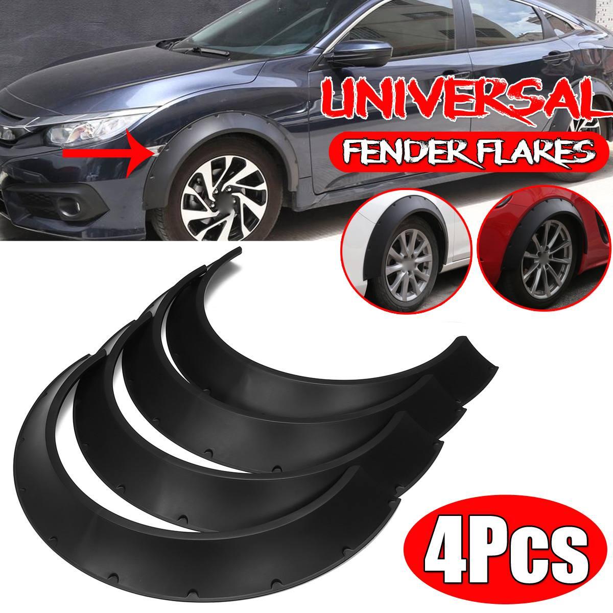 "4 Pcs 10/"" Carbon Diffuser Flare Lip Protector Trim For Mazda Subaru Wheel Fender"
