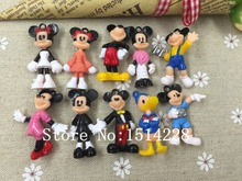 Free shipping! 3D resin mickey&mini&Minnie&Donald Duck, cute cartoon character for key chain/phone decoration,DIY.