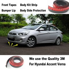 Car Bumper Lips For Hyundai Accent Verna i25 / Car Tuning / Body Kit Strip / Front Tapes / Body Chassis Side Protection