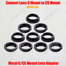 10PCS/Lot Metal 5mm C to CS Mount Adapter 25.4mm Thread C/CS Lens Mount Adaptor Converter Aluminum Ring for Security CCTV Camera(China)