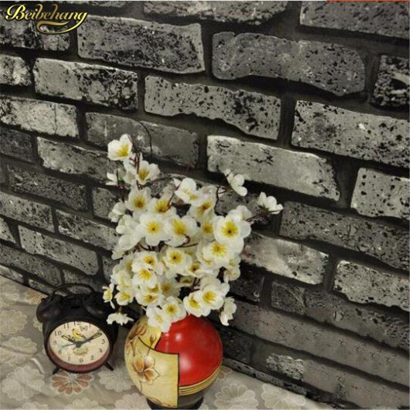 beibehang red brick rustic design brick papel de parede 3d wallpaper for walls 3 d embossed textured decor vinyl wall paper roll<br>