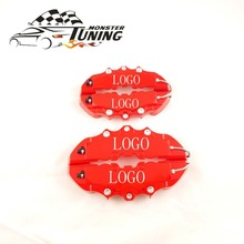 Tuning Monster 4 PCS Brem Car Auto Disc Brake Caliper Cover With 3D Word Universal Kit Fit to 17 Inches 2 Medium and 2 Small Red