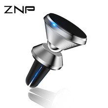 Buy ZNP Strong Magnetic Car Phone Holder 360 Degree Rotation Universal Air Vent Car Holder Stand Support iPhone 7 8 Samsung for $2.84 in AliExpress store
