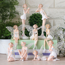Beautiful Girl Creative Gifts Resin Angel Ornaments Artificial Home Decor Miniature Flower Fairy Figurines Wedding decoration