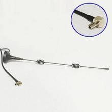 1PC 2.4 GHz 5dBi WIFI Antenna TS9 Right Angle  3m cable magnetic base wireless router booster #1 wifi antenna for laptop