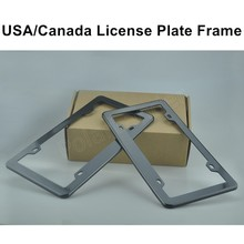 car styling 2 pieces Front Rear Carbon Fiber plastic Look USA/Canada License Plate Frame Tag Cover Holder hot sale(China)
