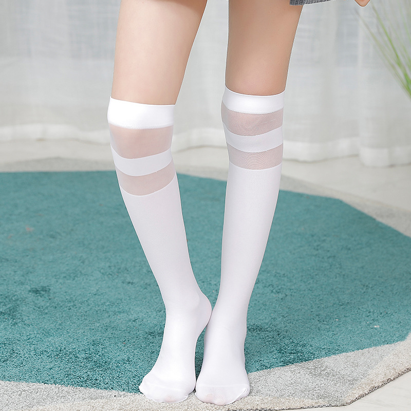 High Elasticity Girl Cotton Knee High Socks Uniform Bear Catch Fish Women Tube Socks