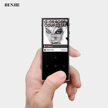 BENJIE MP4 Touch Screen MP4 Player Metal Lossless MP4 Music Player Support Video TF Record Ebook FM with Earphone Armband K9S