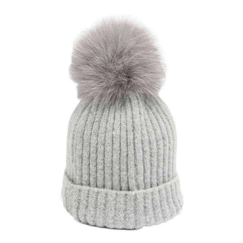 Women Winter Crochet Hat Fur Wool Knit Beanie Fox Hair Warm Cap Îäåæäà è àêñåññóàðû<br><br><br>Aliexpress