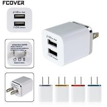Universal 2.1A Wall Charger Plug US EU Dual USB AC Power Adapter 2 ports for IPAD mini for iphone 5 5s 6 plus for Samsung HTC