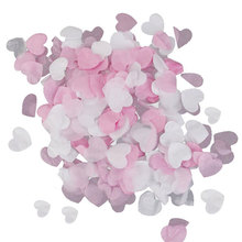 DIY process Heart Shaped paper environmental protection flower petals Wedding Party Decor Scatter Confetti Heart flower JK0427(China)