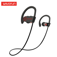 Wavefun bluetooth headphones IPX7 waterproof wireless headphone sports bass bluetooth earphone with mic for phone iPhone xiaomi(China)