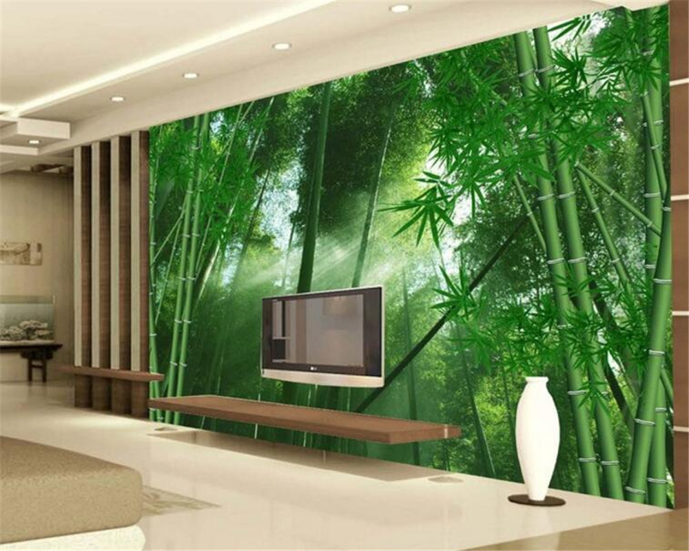 Bamboo Forest Cloud Bamboo Bamboo Wall Background Wallpaper Wallpaper Living Room Bedroom TV Mural wallpaper for walls 3 d PHOTO<br><br>Aliexpress