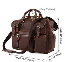 Buy Vintage Brown 100% Crazy Horse Leather Men Messenger Bags Laptop Cowhide Leather Men's Briefcase Portfolio Travel Bags #MD-J7028 for $123.97 in AliExpress store