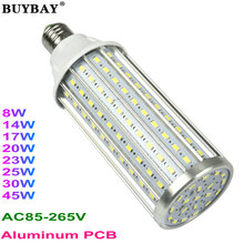 2017 new arrival 8W-45W E27 LED bulb E14 corn bulb light E40 led lamp B22 led spotlight 85-265V Aluminum PCB LED tube(China)