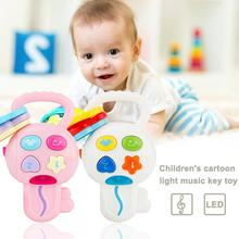 Children Cartoon Car Key With Pendant Toy Light Music Sound Baby Toddlers Musical Instruments Toys For Children(China)