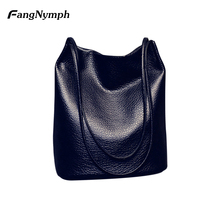 2017 new Simple Style Bucket Bag Single Shoulder Bags Hansbag with Solid Color for Women(China)