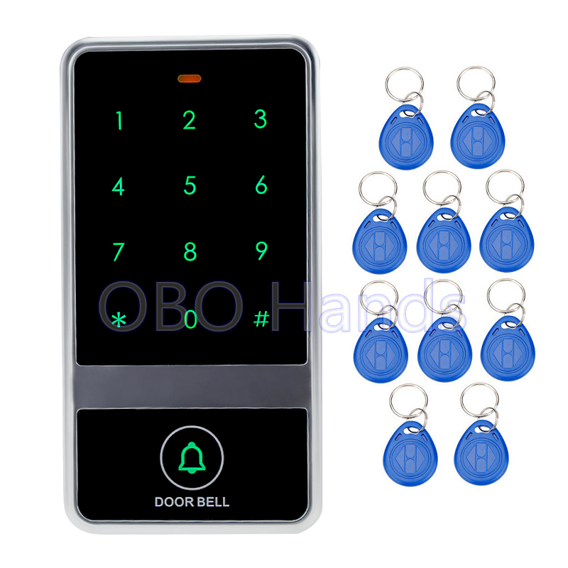 New Arrival RFID Metal Touch Keypad Digital Door Lock For Door Access Control System C60 Model+10 Key Cards Support 8000 Users<br>
