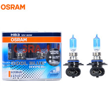 OSRAM 9005 HB3 5000K 12V 60W Cool Blue Hyper Halogen Bulbs Xenon Bluish White 50% More Light Car Lamps Hi/Lo Beam Pair 9005CBH