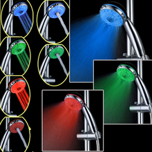 CY8008-A21  Hydroelectric Power Waterflow ABS Showerhead 3 Colors Temperature Sensor+7 Colors Flashing LED Hand Shower Heads