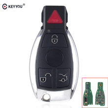 KEYYOU 3+1 4 Buttons Remote Car Key Fob 315MHz Mercedes Benz 2000+ Year BGA Auto Car Key Benz