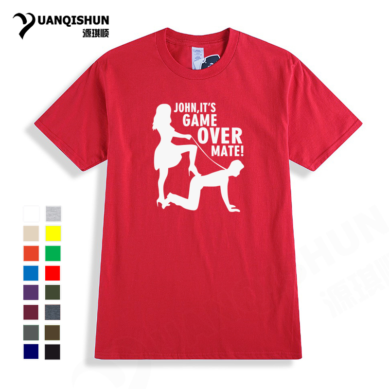 It's Game Over Personalised Custom Stag Do T Shirt Top Quality 16Colors Fun Unisex Tshirt Fashion Mens Womens Gift Free Shipping