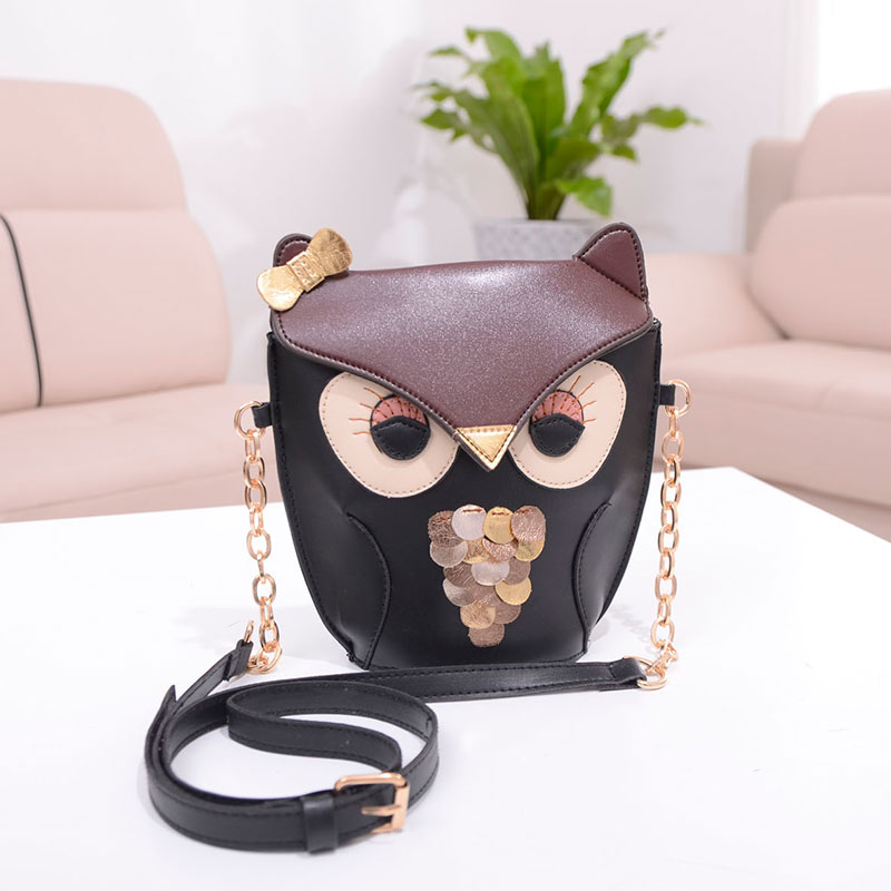 european and american designer  Womens Owl Fashion Handbag Crossbody Mini Bags Feminina High Quality crossbody black bag<br><br>Aliexpress