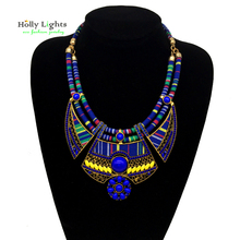 Buy Women vintage choker pendants&necklaces big boho necklaces ethnic bohemian jewelry statement tribal marine blue bijoux femme for $6.83 in AliExpress store