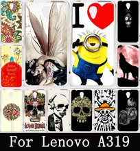 Cool Skull Head Phone Skull Life Wolf Paint Soft TPU Case for Lenovo A319 Covers Hard Plastic For Lenovo A319 Back Cover Skin