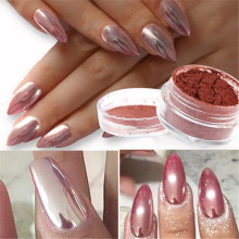 Rose Gold Nails Mirror Powder Glitter Chrome Shine Pigment Nail Dust Nail Powder Nail Art Decoration 2g