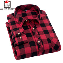 Men Flannel Plaid Shirt 100% Cotton 2018 Spring Autumn Casual Long Sleeve Shirt Soft Comfort Slim Fit Styles Brand Man Clothes(China)