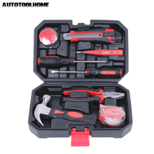 Buy 9PC Multi Hand Tools Household Hand Tool Set Kit Wrench Magnetic PH2 Screwdriver Utility Knife Hammer Test Pen Ruler Box for $32.55 in AliExpress store