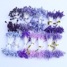 1000PCS 3mm 5mm Purple Color Pearl Stamen and Glass Stamen Different Style Used For Nylon Flower Accessories
