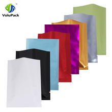 Variet Of Sizes White/ Gold/ Silver/ Red/ Green/ Blue/ Purple/ Black Heat Sealable Aluminum Foil Flat Pouch Open Top Package Bag