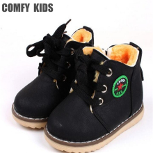 Comfy kids Winter Warm Child Snow Boots Shoes Spring Autumn Girls Boys Boots Flat With Size 21-30 Kids Children Baby Boots Shoe