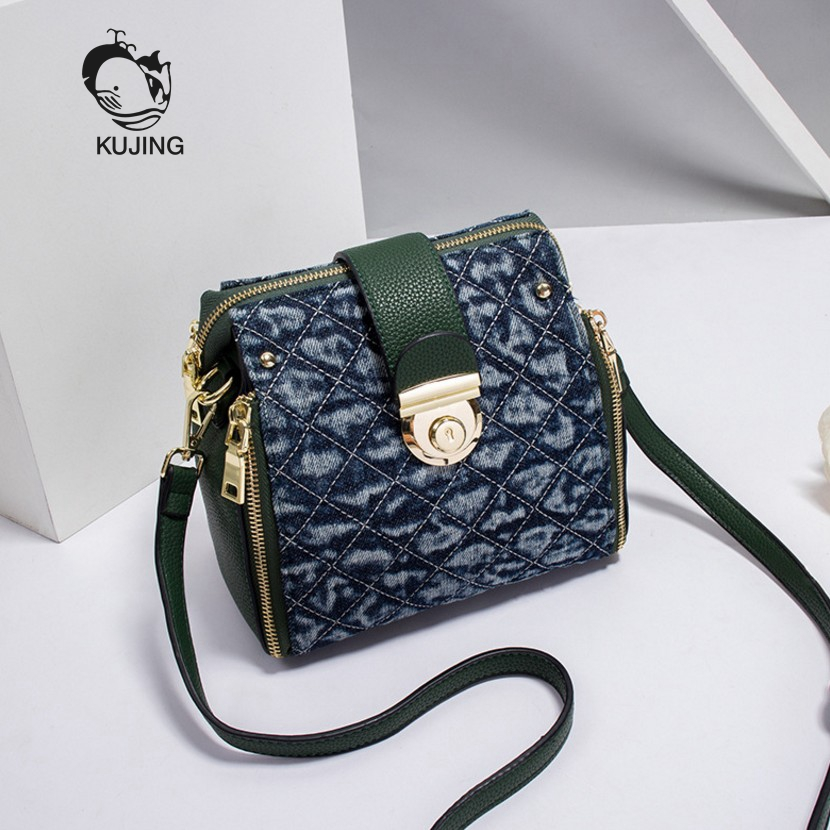 KUJIN Women Handbag High-quality Women Small Square Bag Trend Lingge Women Shoulder Messenger Bag Luxury Travel Casual Women Bag<br>