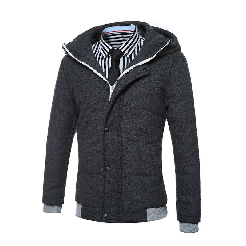 2017 New Winter Mens Jacket Hooded Jacket Warm Coat Male Cotton Jacket Solid   Plus Size High Quality w57Îäåæäà è àêñåññóàðû<br><br>