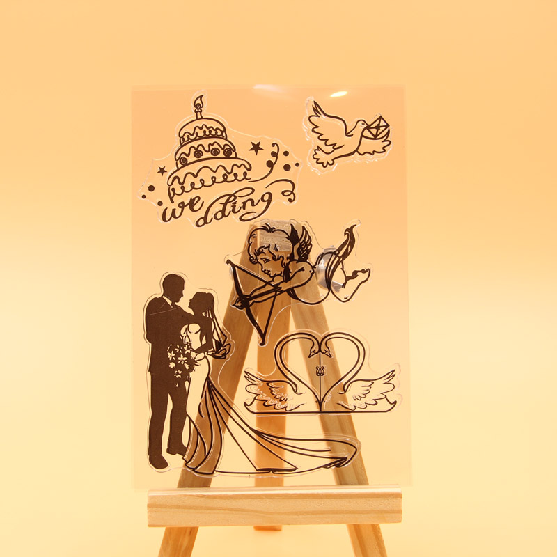 1 sheet DIY Wedding Love Bride and groom Design Transparent Clear Rubber Stamp Seal Paper Craft Scrapbooking Decoration<br><br>Aliexpress