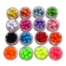 100 pcs/lot shipping free DIY Bracelet Accessory,Mix Color 10MM Round Shape Acrylic Beads, jewelry Findings(China)
