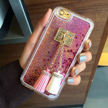 Dynamic Glitter Liquid Hard Case for Transparent Cell Phone Shell Tassel IPhone For iphone 6 7 7plus