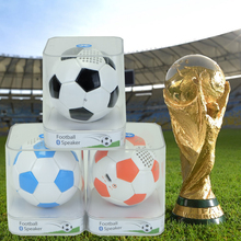 Football love wireless subwoofer mini size Bluetooth speaker 600mAh battery portable way hands calling Roly Poly USB charge