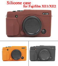 Soft Silicone Rubber Camera Case Protective Body For Fujifilm Fuji XE1 XE2 Camera Cover Skin Bag