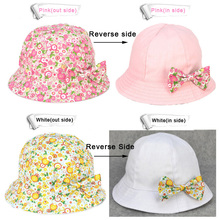 Baby Hat Girl Magic Reversible Bucket Cap Summer Blossom Flower Bowknot Style for Infant Kids Girls Toddler Sun Hats New Fashion