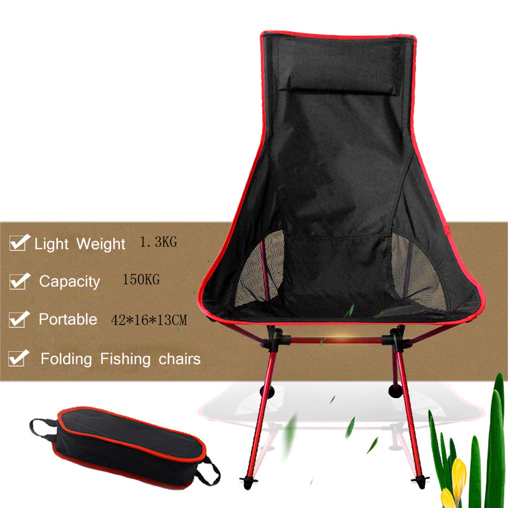 Portable Collapsible Moon Chair Fishing Camping BBQ Stool Folding Extended Hiking Seat Garden Ultralight Outdoor Chair Table