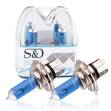 S&D H4 100W 12V Halogen Bulb h4 super white 55W Fog Lights High Power Car Headlights Lamp Car Light Source parking 100W D020