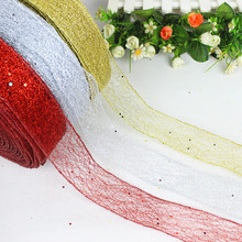 Christmas Ornament 200cm*5cm Fishing net Christmas Ribbon SD-06(China)